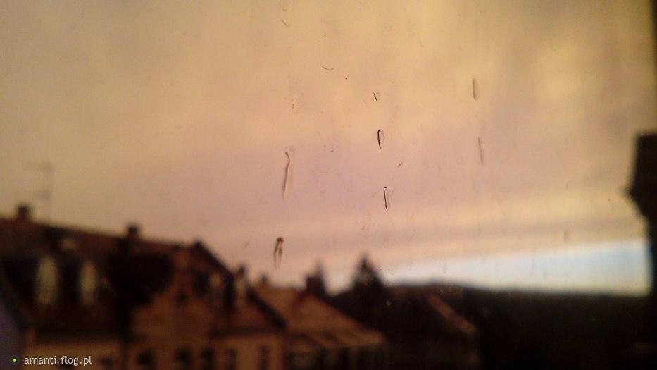 Po deszczu. Zachod.